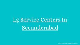 Lg Service Centers In Secunderabad