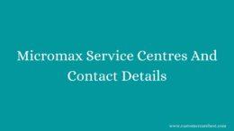 Micromax Service Centres