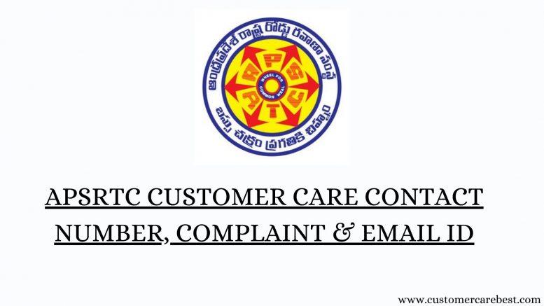 APSRTC Customer Care Contact Number