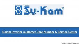 Sukam Inverter Customer Care Number